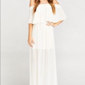 Hacienda Maxi Dress in Wedding Cake Chiffon